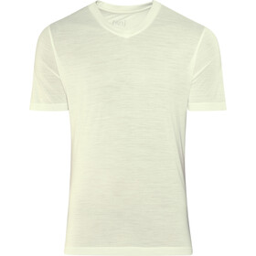 super.natural Base 140 V Neck Tee Men fresh white